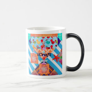iCraft Scrapbooking and Buttons Craft Gifts Magic Mug