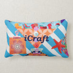 iCraft Scrapbooking and Buttons Craft Gifts Throw Pillow