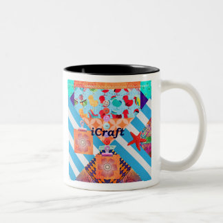 iCraft Scrapbooking and Buttons Craft Gifts Two-Tone Coffee Mug