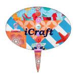 iCraft Scrapbooking y regalos del arte de los boto Decoración De Tarta