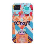 iCraft Scrapbooking y regalos del arte de los boto Vibe iPhone 4 Fundas