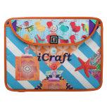 iCraft Scrapbooking y regalos del arte de los boto Fundas Para Macbooks
