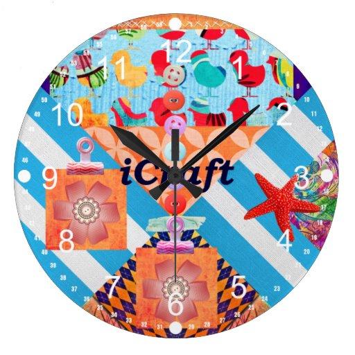 iCraft Scrapbooking y regalos del arte de los boto Reloj
