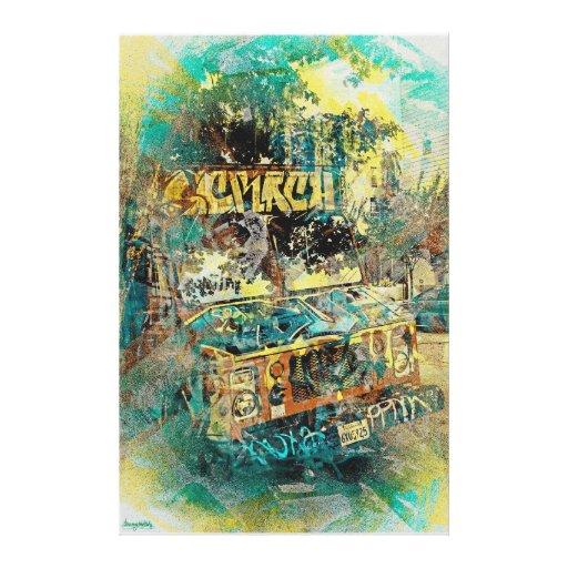 Icream graffiti truck Missiondistrict SanFrancisco Canvas Print