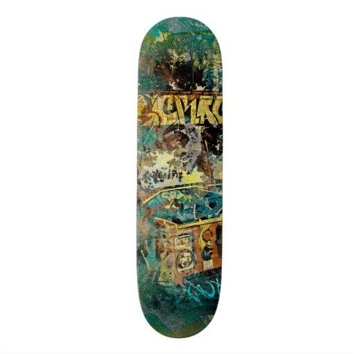 Icream graffiti truck Missiondistrict SanFrancisco Skate Board Deck