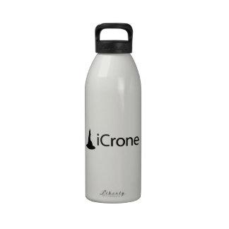 iCrone (texto negro) Botella De Beber