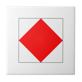 ICS Flag F Ceramic Tile