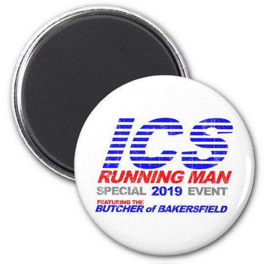 ICS Running Man Faded Magnet