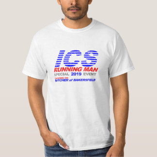 ICS Running Man Faded T-shirt