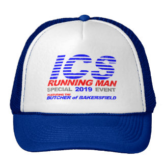 ICS Running Man Faded Trucker Hat