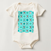 ICSU Tiles Pattern Baby Bodysuit