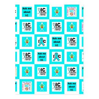 ICSU Tiles Pattern Postcard