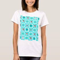 ICSU Tiles Pattern T-Shirt