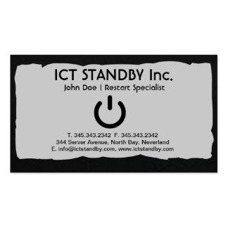 ICT business card Standby dark edge