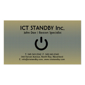 ICT cardboard business card Standby