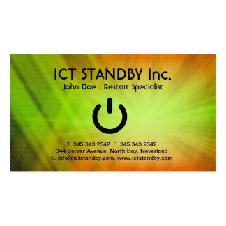 ICT cool business card Standby