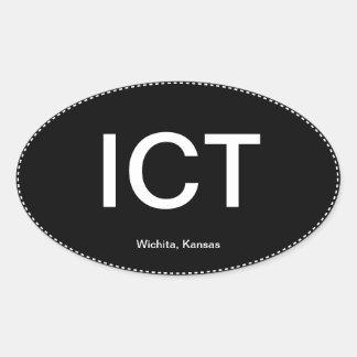 ICT Wichita Kansas Oval Bumper Sticker