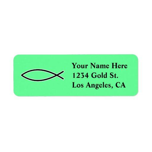 Icthus - Christian Fish Symbol Custom Return Address Labels