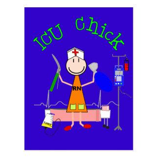 ICU Chick (Nurse) Postcard