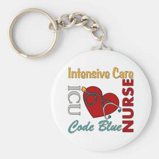ICU - Enfermera Llavero Redondo Tipo Pin