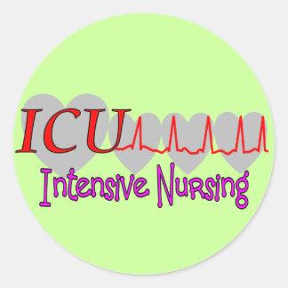ICU INTENSIVE Nursing  Unique Gifts Classic Round Sticker