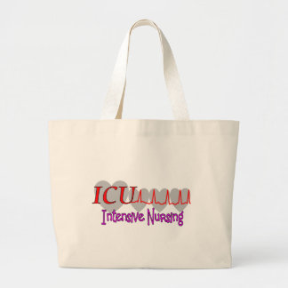 ICU INTENSIVE Nursing  Unique Gifts Large Tote Bag