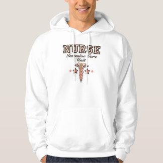 ICU Nurse Caduceus Hooded Sweatshirt