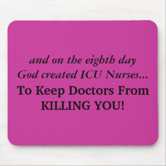 ICU Nurse Funny Gifts Mouse Pad
