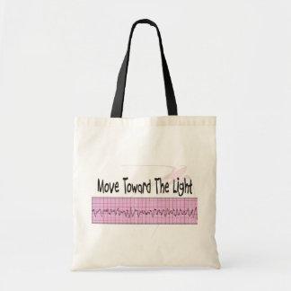 ICU Nurse Gift--Hilarious V-Fib EKG Strip Design Budget Tote Bag