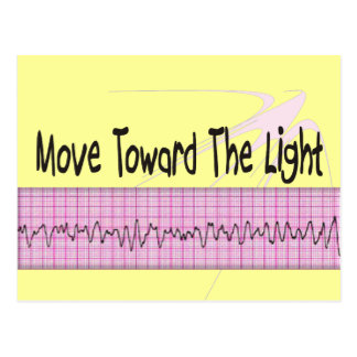ICU Nurse Gift--Hilarious V-Fib EKG Strip Design Postcard