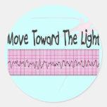 ICU Nurse Gift--Hilarious V-Fib EKG Strip Design Classic Round Sticker