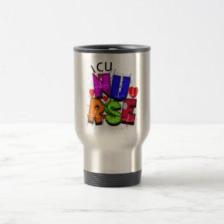 ICU Nurse Gifts, Artsy QRS design 15 Oz Stainless Steel Travel Mug
