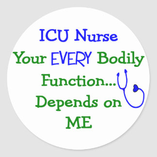 ICU Nurse Gifts Classic Round Sticker