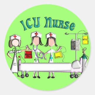ICU Nurse Gifts Unique 3D Artist Graphics Classic Round Sticker