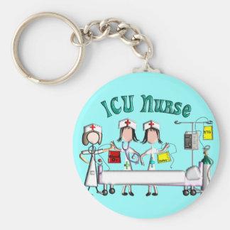 ICU Nurse Gifts Unique 3D Artist Graphics Keychain