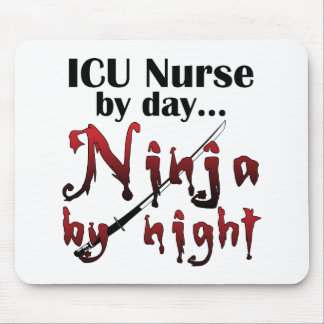 ICU Nurse Ninja Mouse Pad