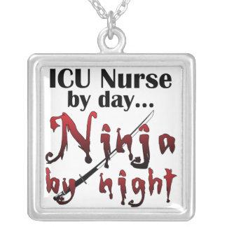 ICU Nurse Ninja Square Pendant Necklace