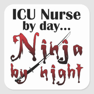 ICU Nurse Ninja Square Sticker