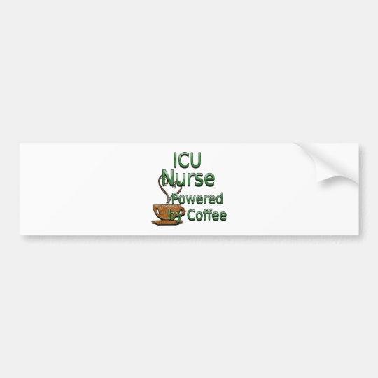 ICU Nurse Powered by Coffee Bumper Sticker