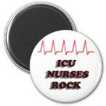 ICU NURSES ROCK 2 INCH ROUND MAGNET