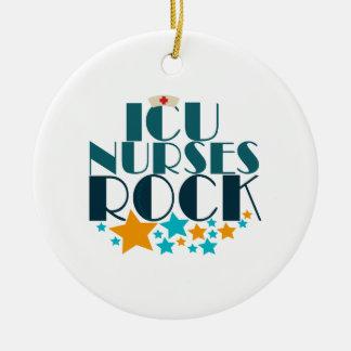 ICU Nurses Rock Ceramic Ornament