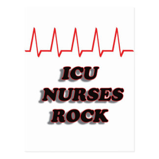 ICU NURSES ROCK POSTCARD