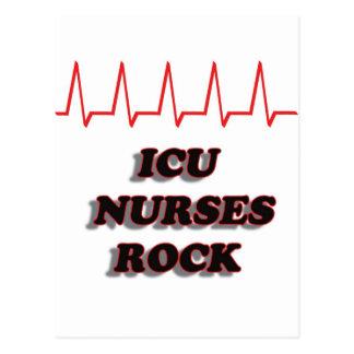 ICU NURSES ROCK POSTCARD