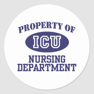 ICU Nursing Classic Round Sticker