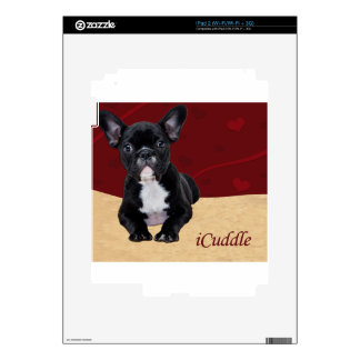iCuddle French Bulldog Decal For iPad 2