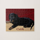 iCuddle Long Hair Dachsund Jigsaw Puzzle