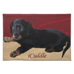 iCuddle Long Hair Dachsund Placemat