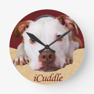 iCuddle Pitbull Round Clock