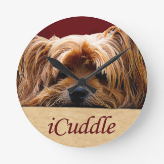 iCuddle Yorkshire Terrier Round Clock