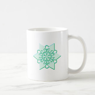 Icy Aqua Christmas Winter Snowflake Coffee Mug